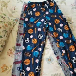 Bundle of sports themed boys PJ pants
